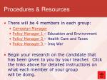 procedures resources