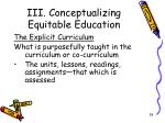 iii conceptualizing equitable education10