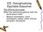 iii conceptualizing equitable education9