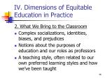 iv dimensions of equitable education in practice3