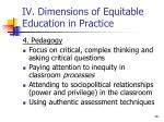 iv dimensions of equitable education in practice5