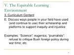 v the equitable learning environment21