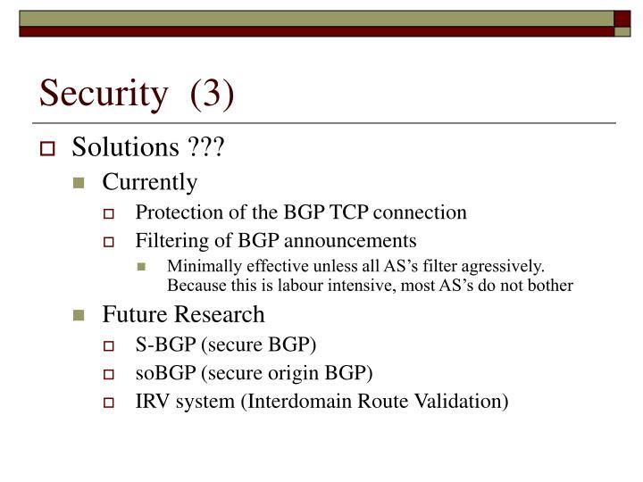 Security  (3)