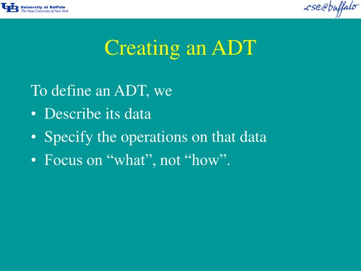 Creating an ADT