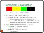 benchmark classification