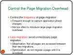 control the page migration overhead