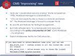 cms improvising new practice