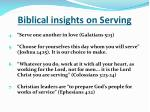 biblical insights on serving1