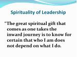 spirituality of leadership