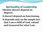 spirituality of leadership1