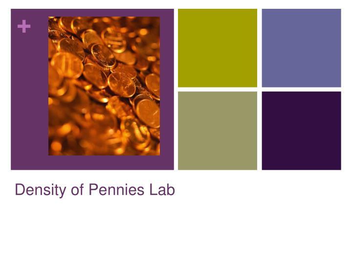 Density of pennies lab