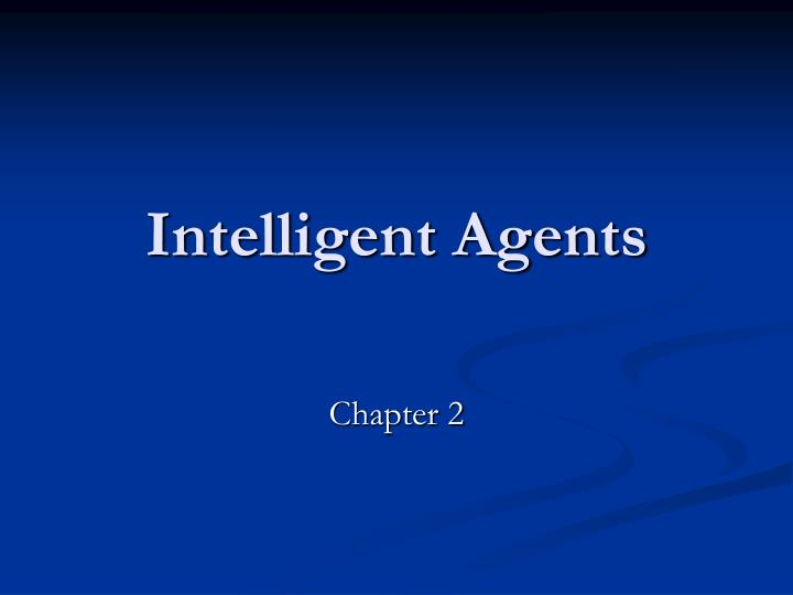 intelligent agents n.