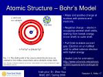 atomic structure bohr s model