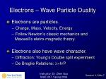 electrons wave particle duality
