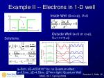 example ii electrons in 1 d well