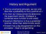 history and argument