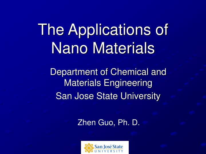 the applications of nano materials n.