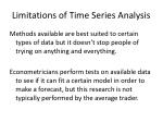 limitations of time series analysis