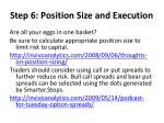 step 6 position size and execution