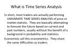 what is time series analysis1