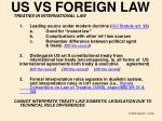 us vs foreign law