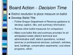 board action decision time