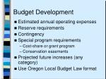 budget development
