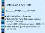 determine levy rate