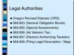 legal authorities