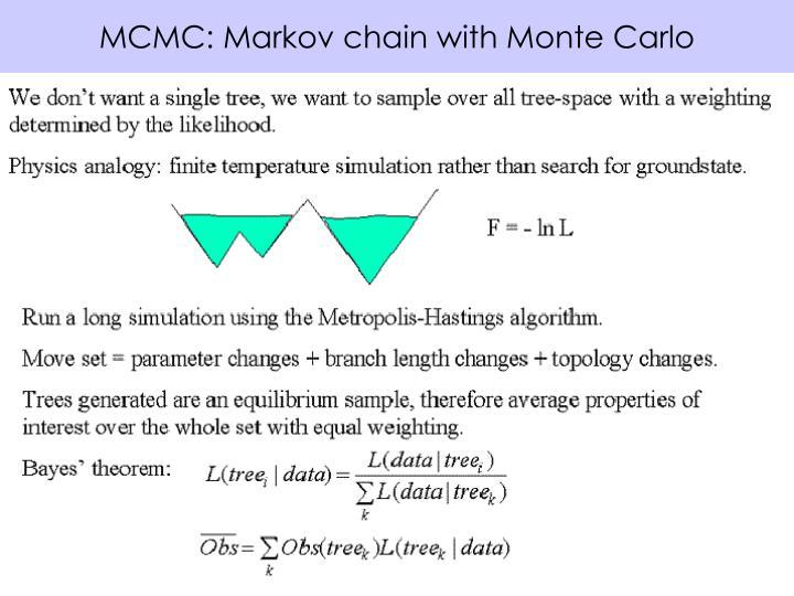 MCMC: Markov chain with Monte Carlo