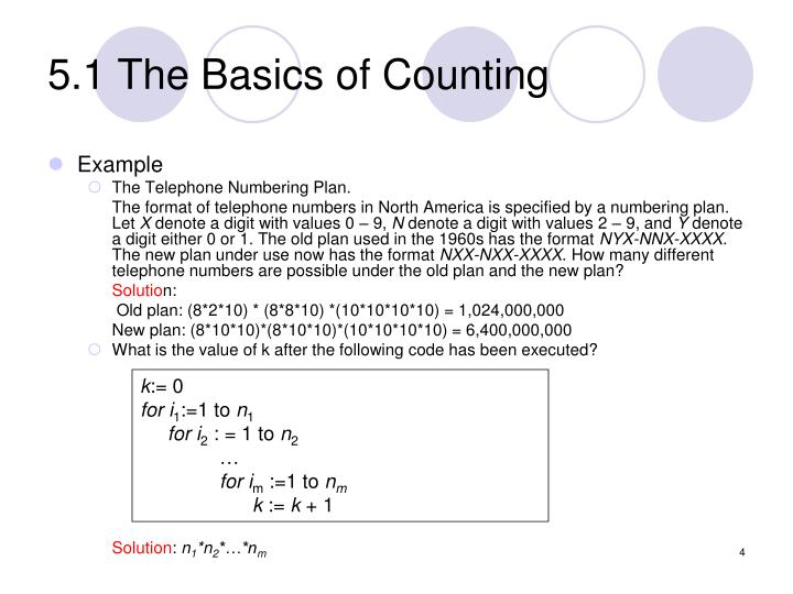 5.1 The Basics of Counting