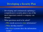 developing a security plan