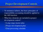 project development controls
