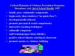 critical elements of violence prevention programs dusenbury etal jnl of school health 1997