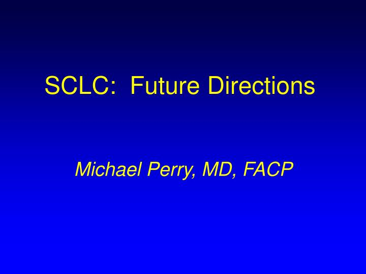 sclc future directions n.