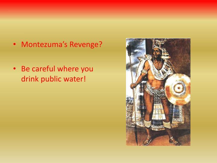 Montezuma's Revenge?