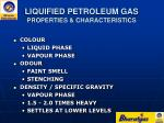 liquified petroleum gas properties characteristics