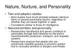 nature nurture and personality