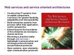 web services and service oriented architectures