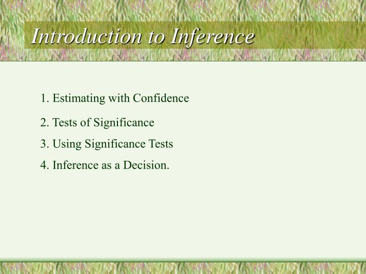 Introduction to inference