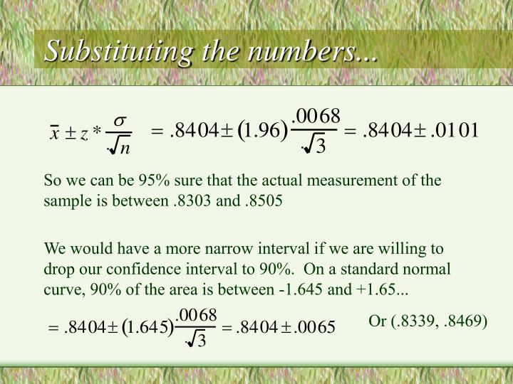 Substituting the numbers...