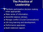 the practice of leadership1