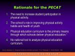 rationale for the pecat