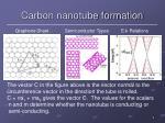 carbon nanotube formation