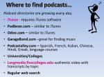 where to find podcasts