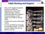 cable routing and support
