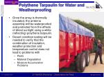 polythene tarpaulin for water and weatherproofing