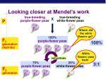 looking closer at mendel s work
