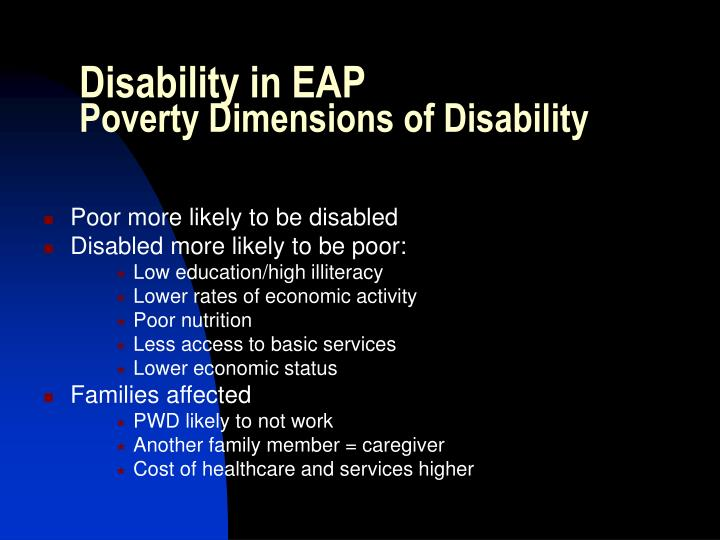 Disability in EAP