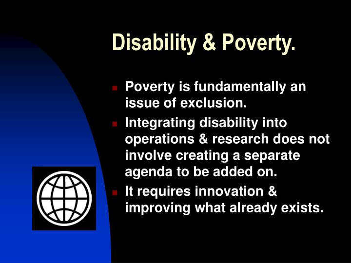 Disability & Poverty.